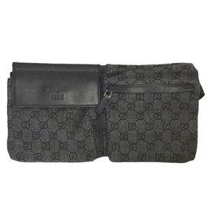 JUST IN Gucci Fanny Waist Belt Black Bag